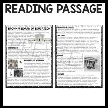 Brown V Board Of Education Reading Comprehension