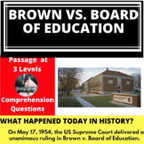 Brown v. Board of Education Differentiated Reading Comprehension Passage May 17