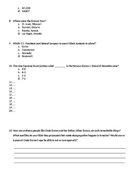 Brown v. Board of Education Test