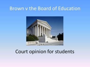 Brown v Board of Education for students