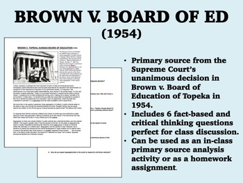 Religion In Schools Essay  Essay Problem Solution Topics also The American Scholar Essay Brown V Board Of Education Of Topeka  Civil Rights  Ushapush Previous Research Experience Essay