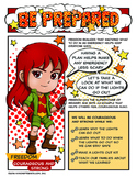 "Girl Scout Be Prepared Badge & ""Courageous & Strong"" Red P"