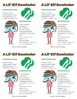 Brownie Elf reminder card (4 per page)