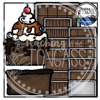 Brownie Fractions Clipart Bundle