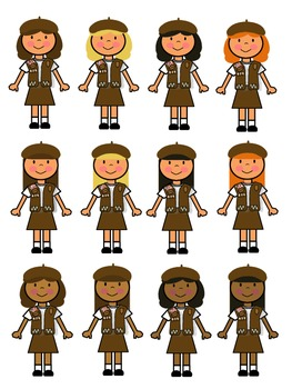 Brownie Girl Scout Clip Art