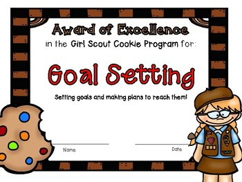 Brownie Girl Scout Cookie Awards and Certificates