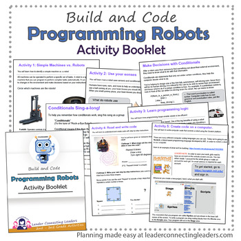 Brownie Girl Scout Programming Robots Activity Booklet