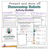 Brownie Girl Scout Showcasing Robots Activity Booklet