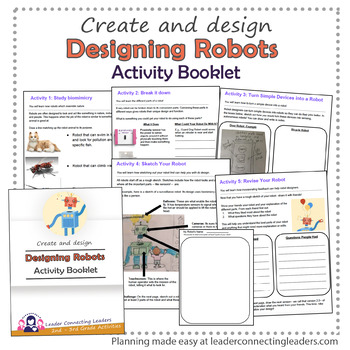 Brownie Girl Scouts Designing Robots Activity Booklet