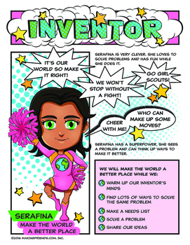 Girl Scout Inventor Badge Make The World A Better Place Pink