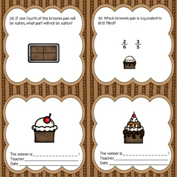 Brownie Fractions Math