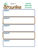 Brownie Monthly Activity Calendar Girl Scouts Editable Pri