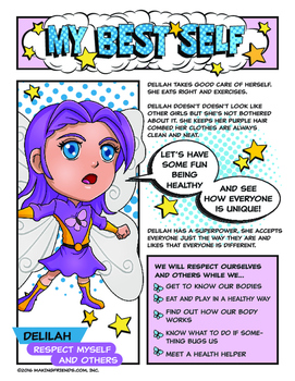 "Girl Scout My Best Self Badge & ""Respect Myself"" Purple Pe"