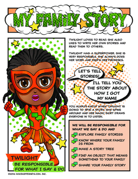 "Girl Scout My Family Story Badge & ""Responsible for What I Say & Do"" Download"