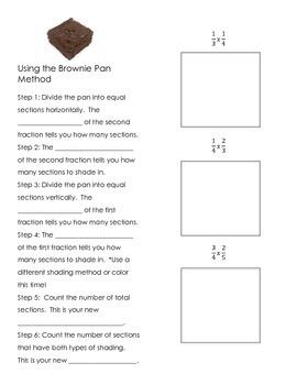 Brownie Pan Method for Mutliplying Fractions