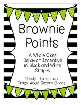 Brownie Points-A Whole Class Behavior Incentive in Black and White Stripes