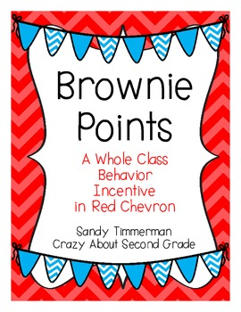 Brownie Points-A Whole Class Behavior Incentive in Red Chevron