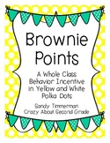 Brownie Points-A Whole Class Behavior Incentive in Yellow and White Polka Dots