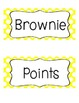 Brownie Points-A Whole Class Behavior Incentive in Yellow