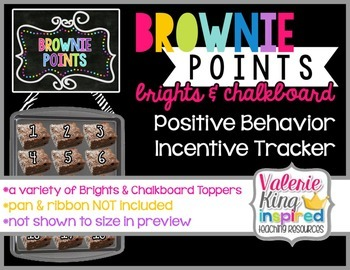 Brownie Points Behavior Management: Brights & Chalkboard