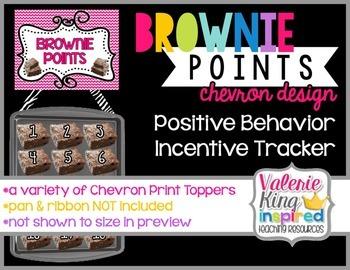 Brownie Points Behavior Management: Chevron Design