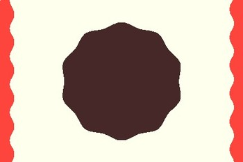 Brownie Round Blank Editable Label Flashcards