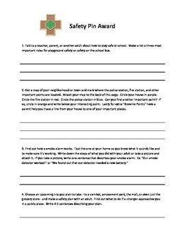Brownie Safety Pin Award Take Home Assignment