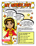 """Girl Scout My Great Day Badge & """"Friendly and Helpful"""" Petal Download"""