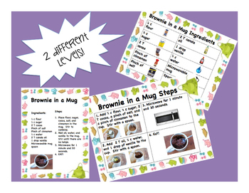Brownie in a Mug Differentiated Recipes