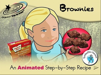 Brownies - Animated Step-by-Step Recipe SymbolStix