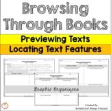 Browsing Through Books: Book Features Graphic Organizer