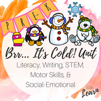 Brr... It's Cold! Unit - Literacy, Math, Social Emotional, Motor Skills - Pre-K