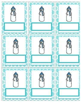 Brr! Sight Word Game Template