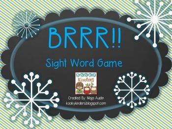 Brrr!! Sight Word Game