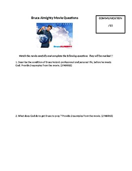 Bruce Almighty Movie Questions