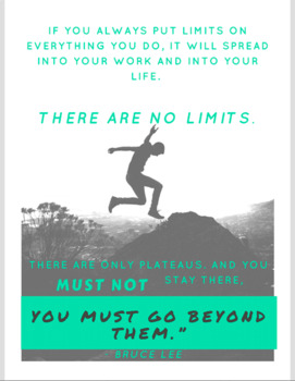 Bruce Lee Fitness Quote Poster - Gr. 6 - 12 Physical Education, Health Education