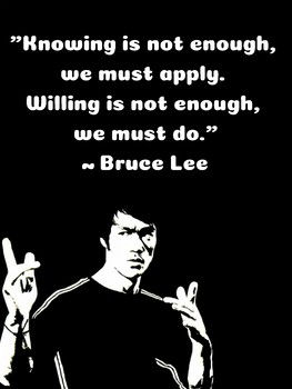 Bruce Lee Growth Mindset Poster Posters Inspirational ...