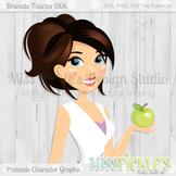 Brunette Teacher 006, Teacher Avatar- Commercial Use Chara