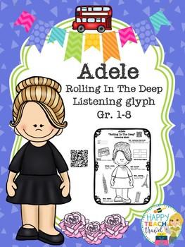 "Adele ""Rolling In The Deep"" listening glyph"