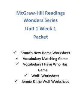 McGraw Hill Reading Wonder Series Unit 1 Week 1