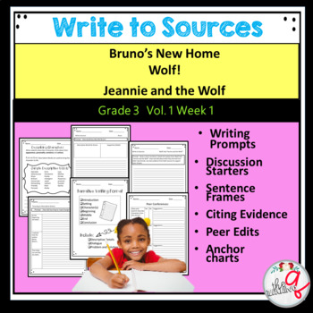 Bruno's New Home, Wolf!, Jeannie and the Wolf-Write to Sources Journal Pages