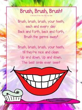 Brush, Brush, Brush! a Dental Health Song FREEBIE