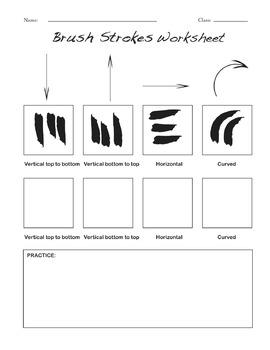 Brush Strokes Worksheet