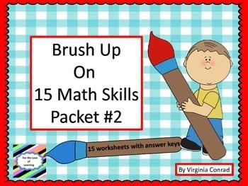 Brush Up Math Skills---Packet #2