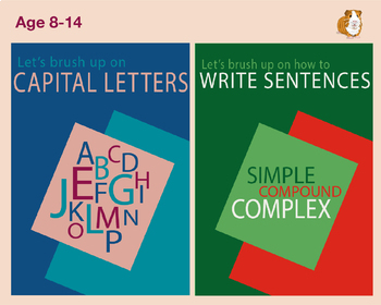 Brush Up On Capital Letters And Sentences (2 Pack Set) (9-
