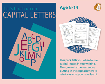 Brush Up On Capital Letters (Improve Your English Work Pack) 8-14 years