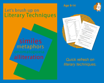 Brush Up On Literary Techniques (Improve Your English Work Packs) 9-14 years