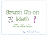Brush Up On Math ~ A Math Center Freebie
