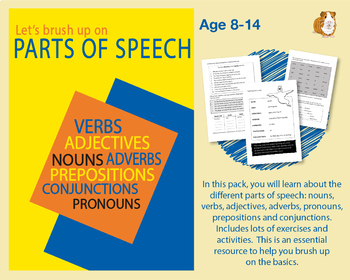 Brush Up On Parts Of Speech (Improve Your English Work Pack) 9-14 years