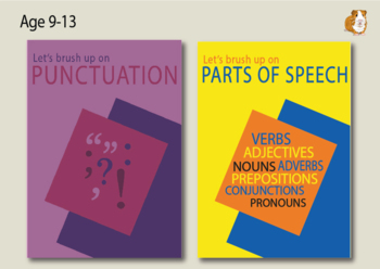 Brush Up On Punctuation And Parts Of Speech (2 Pack Set) (